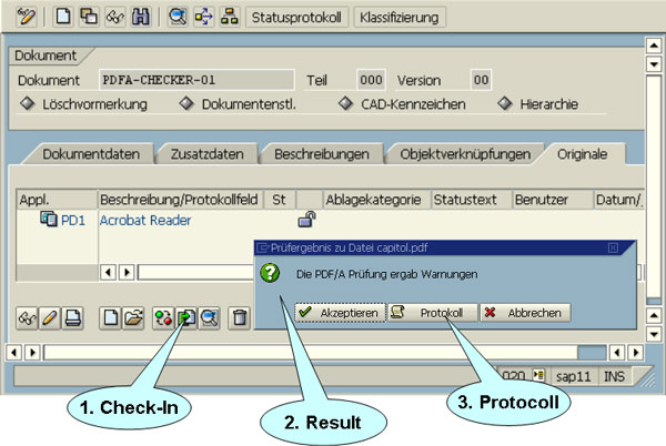 The SAP user controls the check process.