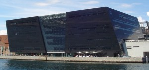 Black Diamond at the Royal Library in Copenhagen.