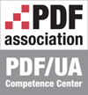 PDF/UA Competence Center logo.