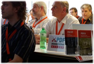 A typical scene from the 2012 PDF Technical Conference.