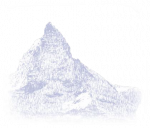 Stylized image of the Matterhorn mountain