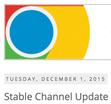 Chome Stable Channel Update