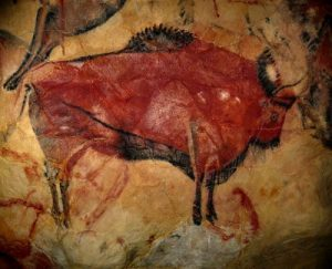 Reproduction of a bison of the cave of Altamira
