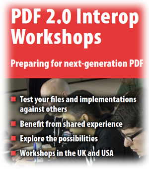 PDF 2.0 interop flyer cover
