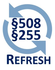 Section 508 / 255 refresh logo