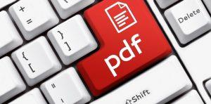 PDF key on a keyboard
