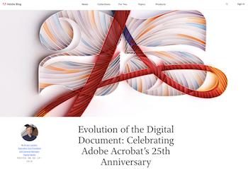 Adobe celebrates PDF at 25.