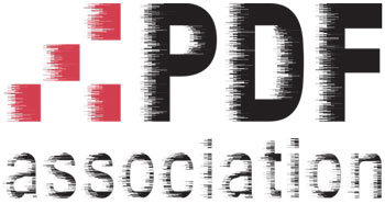 PDF Association logo, distorted