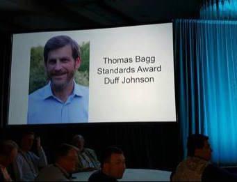 Duff Johnson receives the Thomas Bagg Standards Award