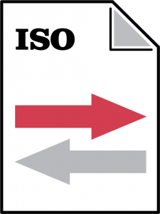 Logo for ISO standard.
