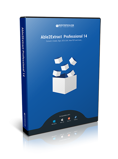 Able2Extract Professional 14: Sign PDF and Speed up PDF to