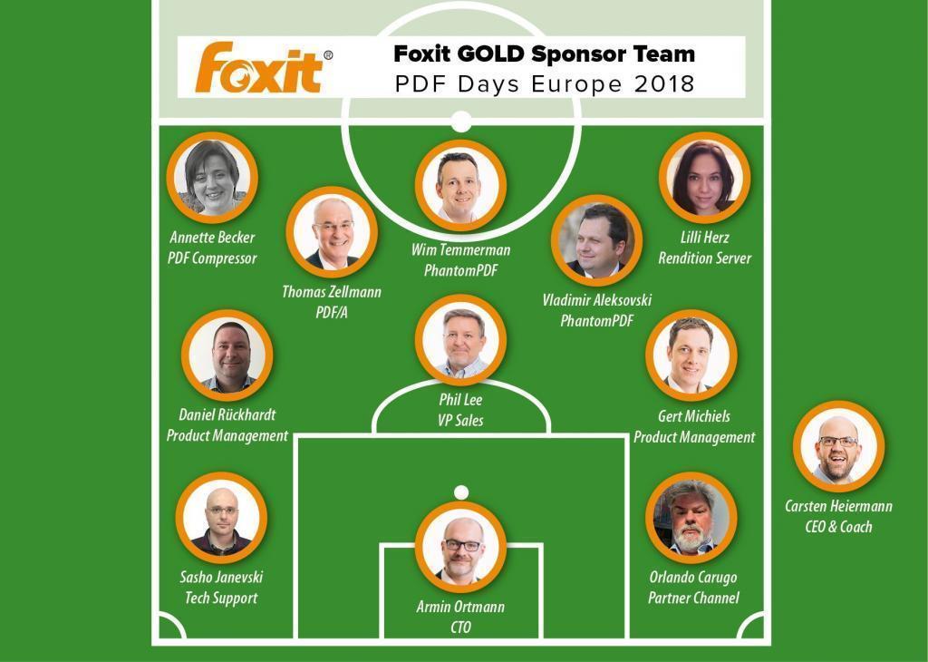 Foxit GOLD Sponsor Team