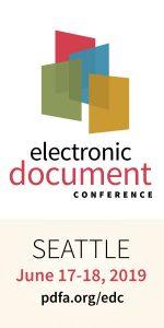 EDC logo, June 17-18 2019 Seattle.