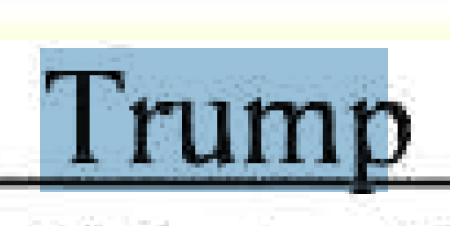 "Screenshot of ""Trump"" as selected text."