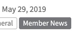 May 29, 2019, Member News