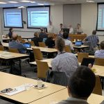 A scene from the Electronic Document Conference.