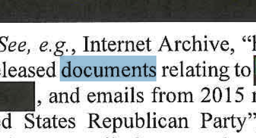 Screenshot of a redacted portion of the Mueller report.