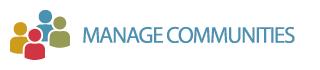 Manage communities