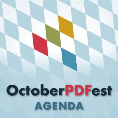 OctoberPDFest Agenda logo