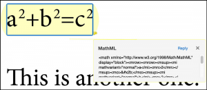 Highlight annotation with MathML on top of a math equation