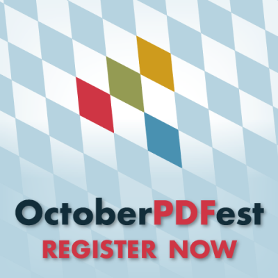 OctoberPDFest Online: Register NOW!