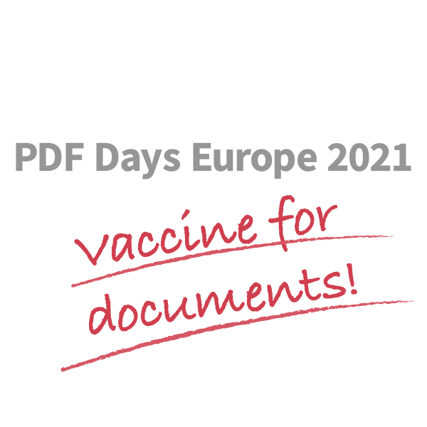 PDF Days Europe 2021 Vaccine for documents