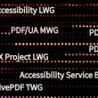 Names of various PDF Association communities.