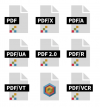 ISO standards for PDF in 3 rows with 3 across