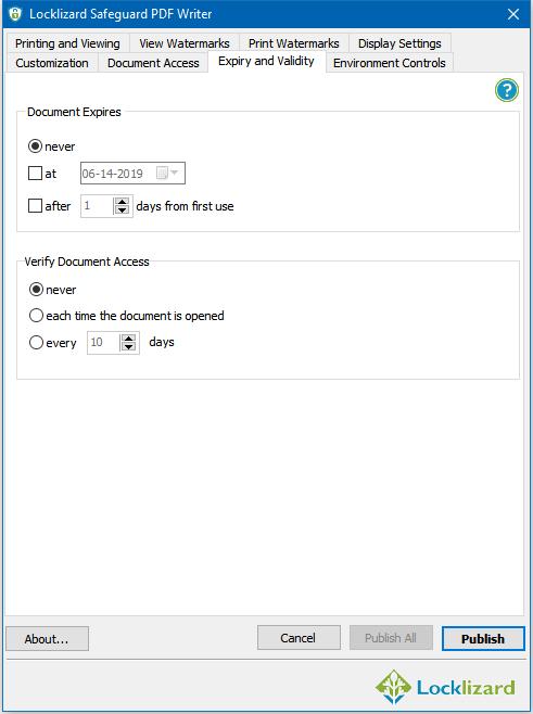PDF Expiry